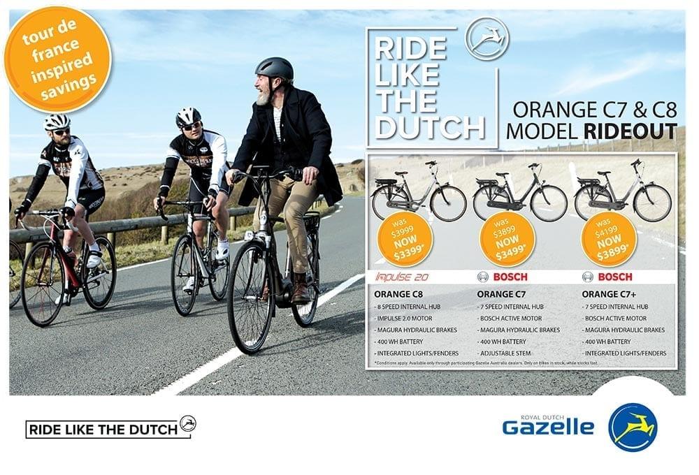 Gazelle electric bikes ride out sale