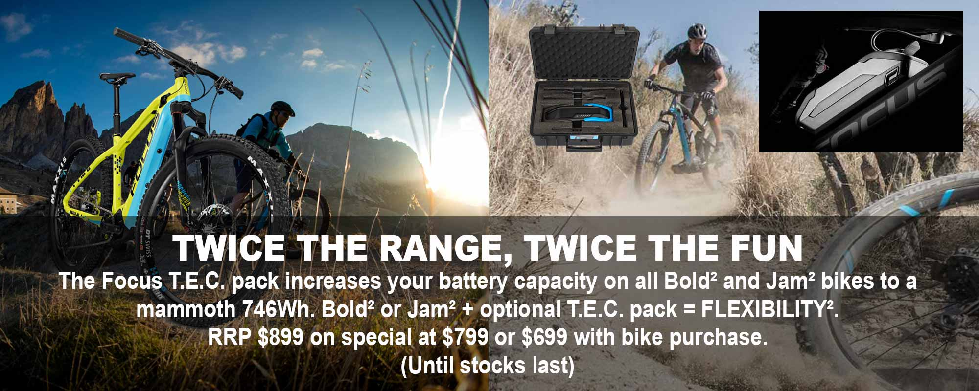 Focus TEC battery pack special deal
