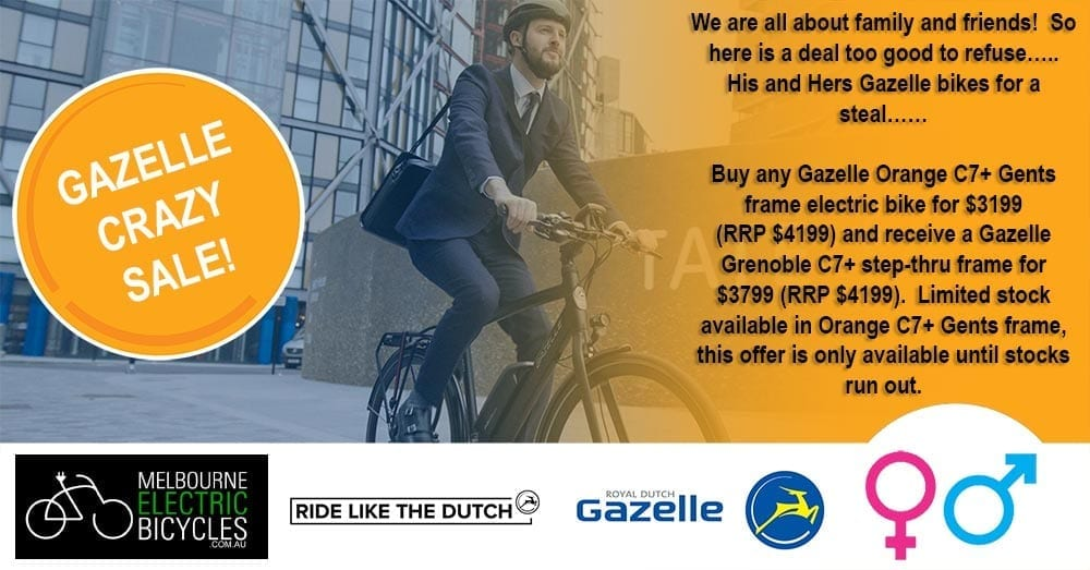 gazelle electric bike sale