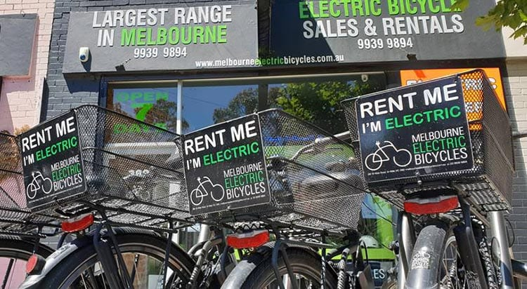 Electric bicycle rentals in Melbourne - rent today with Melbourne Electric Bicycles